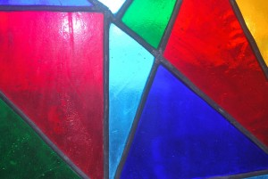 Stained Glass Pieces - The Pieces Of Our Lives Are Collected Together